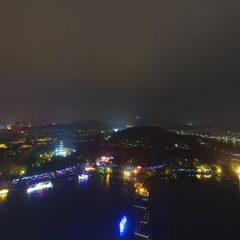 惠州西湖夜景航拍